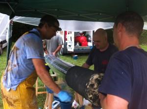 Obra en Asturias rehabilitación de tuberías