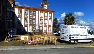 Inspección de tuberías en el Hospital de León